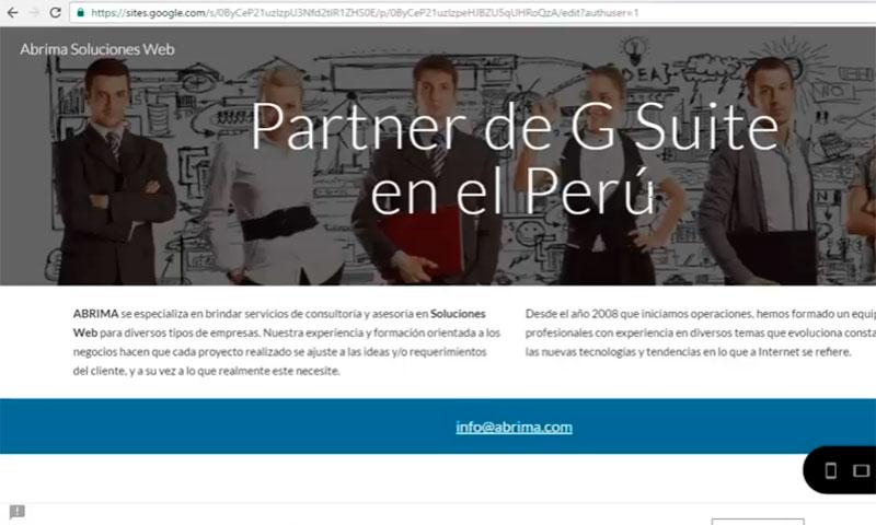 Google Sites en Perú - Abrima Soluciones Web