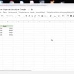 Cómo cambiar filas y columnas en Hojas de cálculo de Google