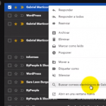Cómo encontrar correos electrónicos de remitentes específicos en Gmail