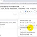 Cómo convertir un documento de Google en PDF