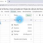 Cómo agregar la fecha y hora actuales en Hojas de cálculo de Google