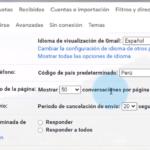 Cómo cambiar el tamaño de la página en Gmail para mostrar más o menos correos electrónicos a la vez
